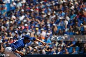 Toronto, Canada - September 5 - during baseball action against the Baltimore Orioles at the Rogers Centre in Toronto on September 5, 2015.