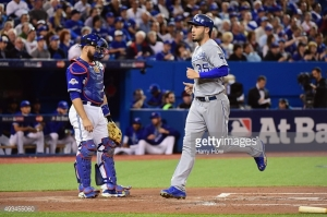 during game four of the American League Championship Series at Rogers Centre on October 20, 2015 in Toronto, Canada.