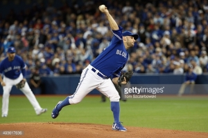during game five of the American League Championship Series at Rogers Centre on October 21, 2015 in Toronto, Canada.