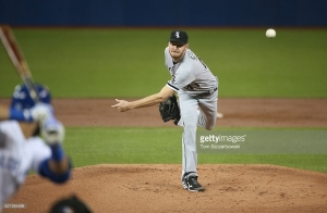 TORONTO, CANADA - APRIL 26: Chris Sale #49 of the Chicago White Sox delivers a pitch in the first inning during MLB game action against the Toronto Blue Jays on April 26, 2016 at Rogers Centre in Toronto, Ontario, Canada. (Photo by Tom Szczerbowski/Getty Images) *** Local Caption *** Chris Sale